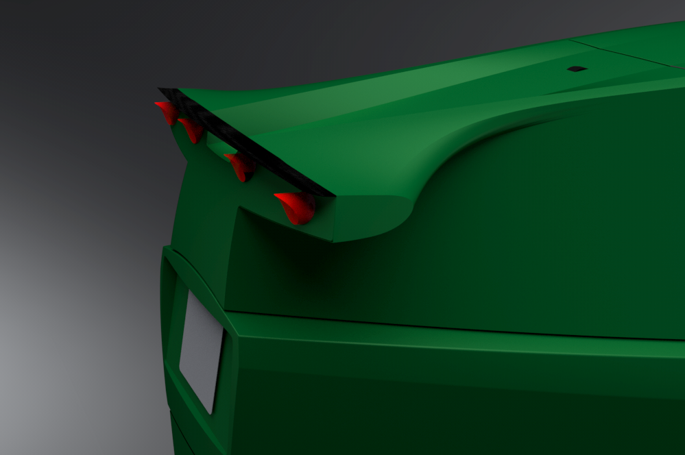 Rear Spoiler Design for the Ecoist Tian